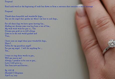 プロポーズにつかわれるダイヤリング