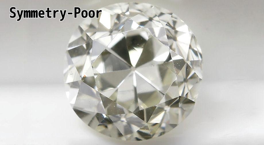 ダイヤモンドシンメトリー(対称性)プアPoor